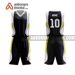 Mẫu quần áo bóng rổ THPT Hồng Quang màu đen mới nhất ABR789