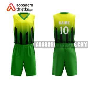Mẫu quần áo bóng rổ THPT Kim Thành màu xanh lá tốt nhất ABR816