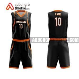 Mẫu quần áo bóng rổ THPT Lê Quý Đôn – Đống đa màu đen đẹp nhất ABR811
