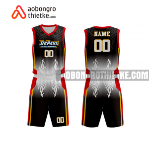 Mẫu quần áo bóng rổ THPT Lê Quý Đôn màu đen lạ nhất ABR888
