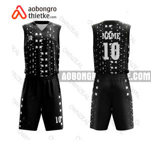 Mẫu quần áo bóng rổ THPT Long Châu Sa màu đen chính hãng ABR910