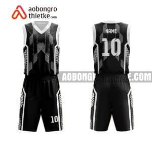 Mẫu quần áo bóng rổ THPT Lý Thái Tổ màu đen gần đây ABR822