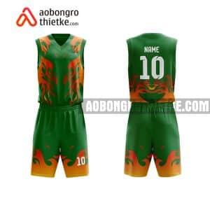 Mẫu quần áo bóng rổ THPT Nam Lý màu cam yêu thích nhất ABR878