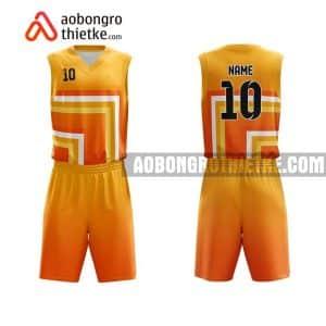 Mẫu quần áo bóng rổ THPT Năng khiếu Hà Tĩnh màu cam rẻ nhất ABR724