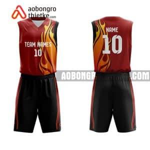 Mẫu quần áo bóng rổ THPT Ng Hữu Huân màu cam uy tín nhất ABR823