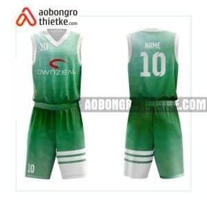 Mẫu quần áo bóng rổ THPT Nghĩa Hưng A màu xanh lá đẹp nhất ABR871