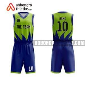 Mẫu quần áo bóng rổ THPT Ngô Gia Tự màu xanh lá mua nhiều nhất ABR915