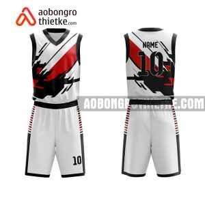 Mẫu quần áo bóng rổ THPT Ngô Quyền màu hồng mới nhất ABR819