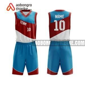 Mẫu quần áo bóng rổ THPT Ngọc Hồi màu hồng đẹp nhất ABR841
