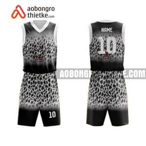 Mẫu quần áo bóng rổ THPT Nguyễn Công Trứ màu đen rẻ nhất ABR844