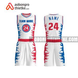 Mẫu quần áo bóng rổ THPT Nguyễn Thượng Hiền màu hồng lạ nhất ABR753