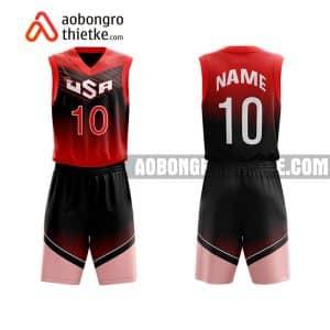 Mẫu quần áo bóng rổ THPT Nguyễn Trãi màu hồng in nhanh ABR731