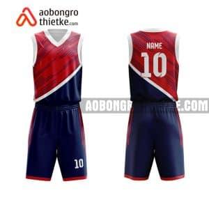 Mẫu quần áo bóng rổ THPT Quảng Xương 1 màu tím tốt nhất ABR906