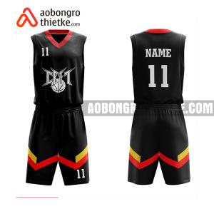 Mẫu quần áo bóng rổ THPT Quế Võ 1 màu cam rẻ nhất ABR889