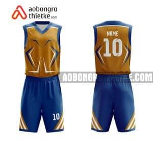 Mẫu quần áo bóng rổ THPT Thuận Thành 1 màu cam tốt nhất ABR801