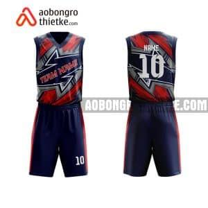 Mẫu quần áo bóng rổ THPT Trần Phú màu tím hot nhất ABR862