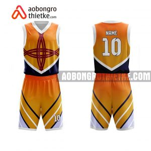 Mẫu quần áo bóng rổ THPT chuyên Lê Quý Đôn màu cam mua nhiều nhất ABR735