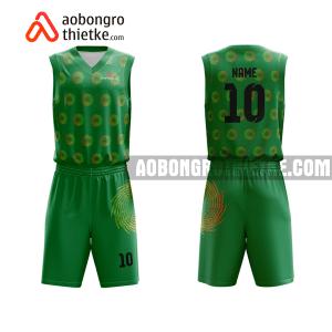 Mẫu quần áo bóng rổ THPT chuyên Thăng Long – Đà Lạt màu xanh lá in nhanh ABR761
