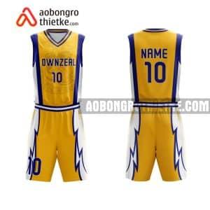 Mẫu quần áo bóng rổ Trường Chuyên ĐH SP HN màu vàng uy tín nhất ABR718